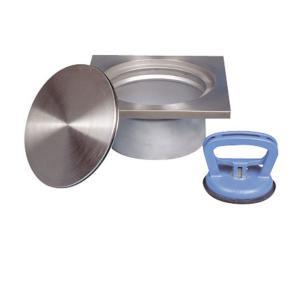 Hygiene-Sonderrostaufsatz für Bodenabläufe DN100, ArtNr.: BA2_RAD
