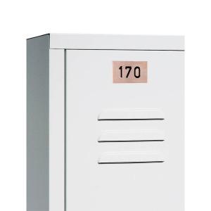Edelstahl-Nummernschild für Garderobenschränke