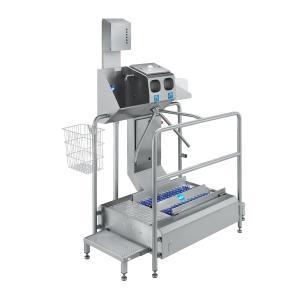 Durchlauf-Sohlenreiniger mit EK400 und Handwaschrinne