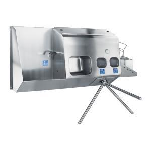 Eingangskontrollgerät mit Handwaschbecken und Händetrockner