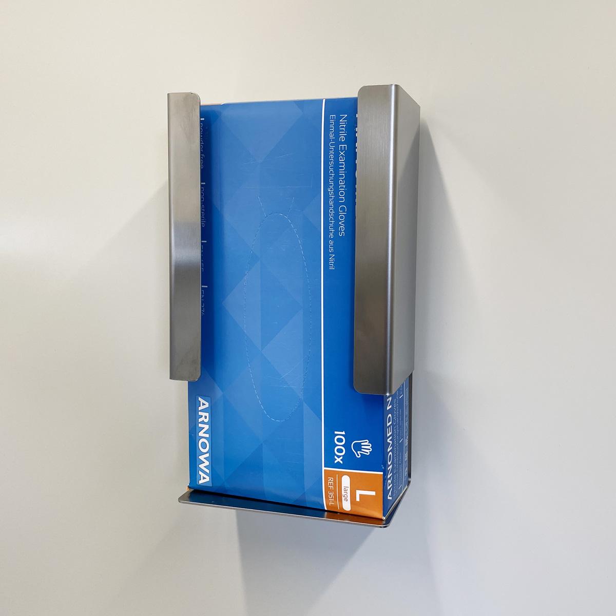Spender für Handschuhe in Karton mit magn. Wandbefestigung, ArtNr.: EWSP_HS_KM