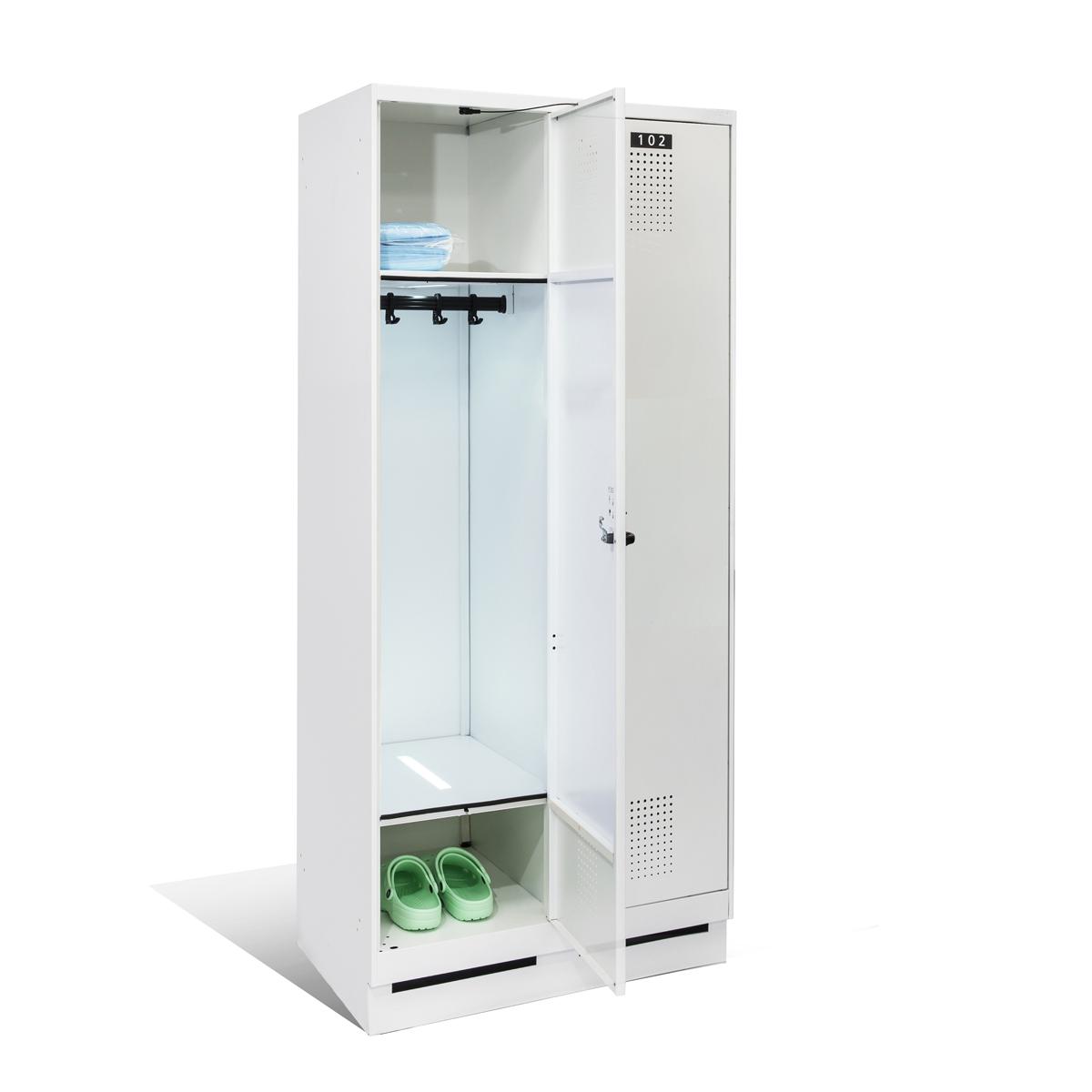 Garderobenschrank mit integrierter UV-C Entkeimung, ArtNr.: GS_UVC_400