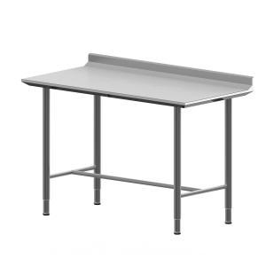 Hygienic Design Arbeitstisch mit Aufkantung & H-Verstrebung