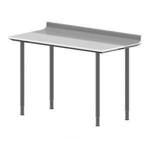Hygienic Design Arbeitstisch mit Aufkantung & Schneidplatte