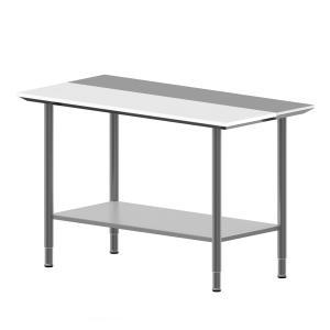 Hygienic Design Arbeitstisch, Schneidplatte, Fachboden