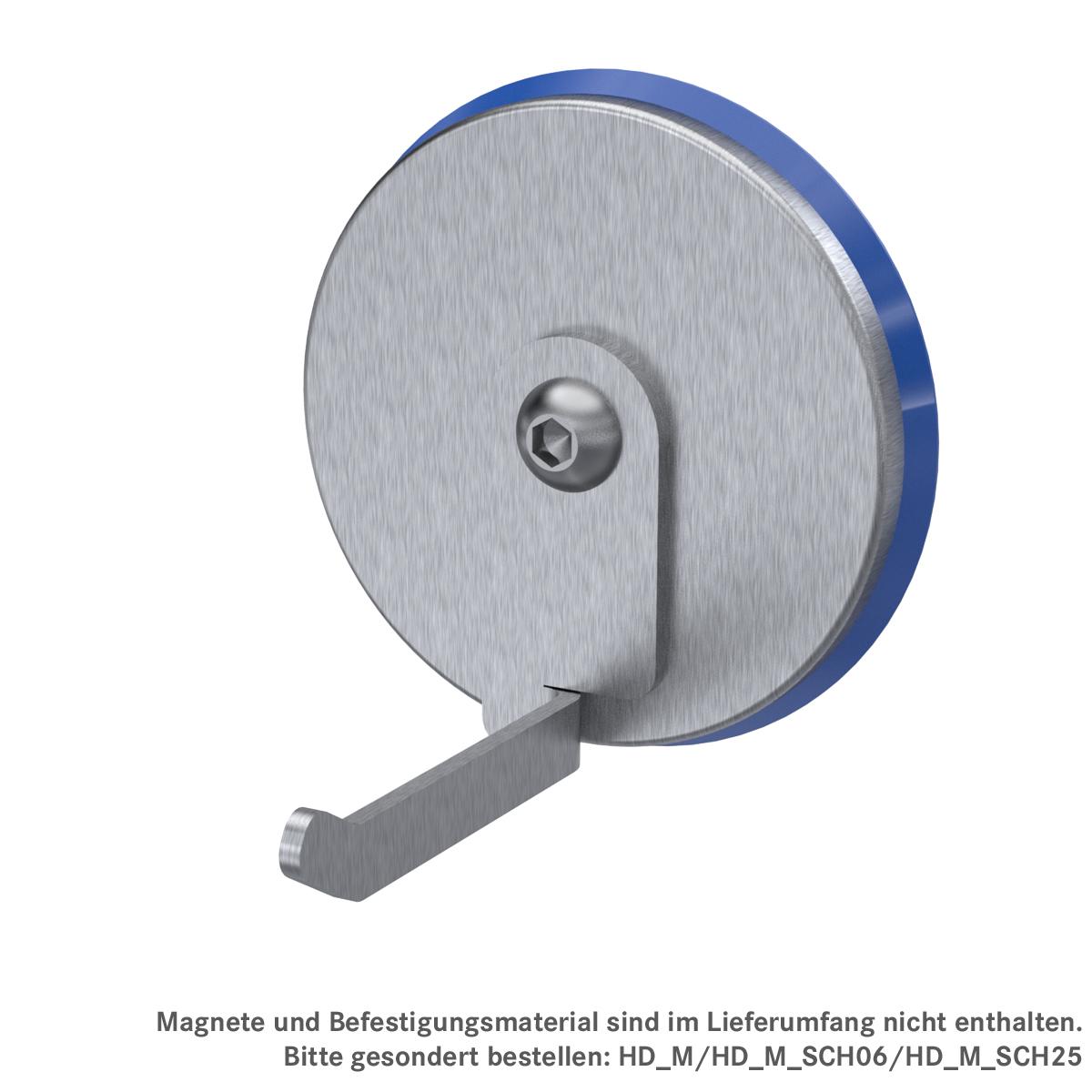 Schmaler Haken zur magnetischen Wandbefestigung, ArtNr.: HD_M_KH2