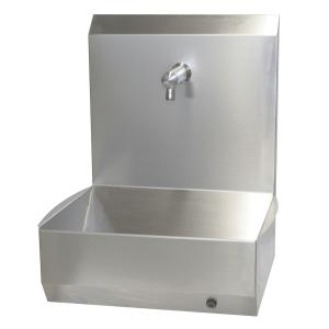 Handwaschrinne mit Rückwand, sensorgesteuert, Netzbetrieb