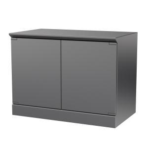 Hygienic Design Reinraum-Schranktisch zweiflügelig