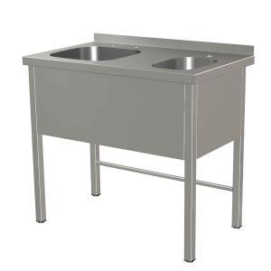 Kombispüle 1 Spülbecken, 1 Handwaschbecken, ohne Ablageboden, ArtNr.: KBS