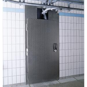 Kühlraumtüre, 1-flügelig mit Rohrbahnaufsatz