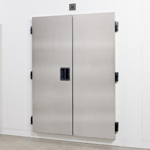 Kühlraumtür ohne Hebel, 2-flügelig