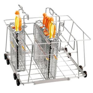 Lafette für Spülkorb für Messerkorb-Desinfektionsmaschine