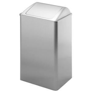 Müllbehälter mit selbstschließender Einwurfklappe
