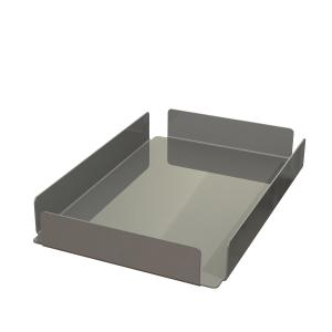 Übergabetablett für Mehrwegbehälter aus Edelstahl