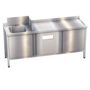 Schranktisch mit Handwaschbecken, Spülbecken, Schneidbrett